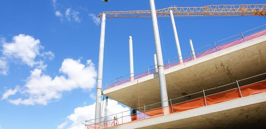 edificio en construcción en Barcelona