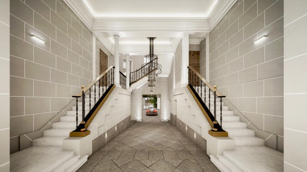 entrada casa de lujo