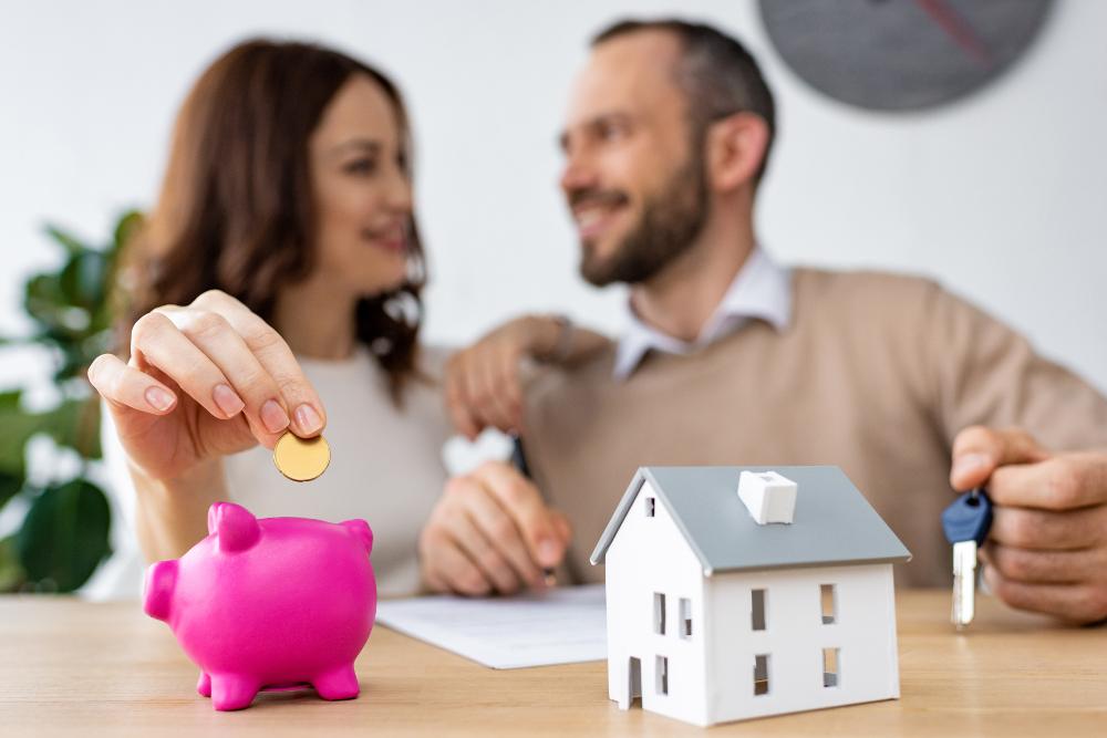 pisos de bancos pareja comprando