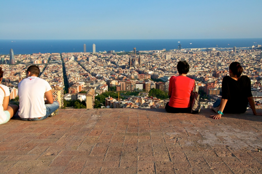 Vistas de Barcelona desde Gracia