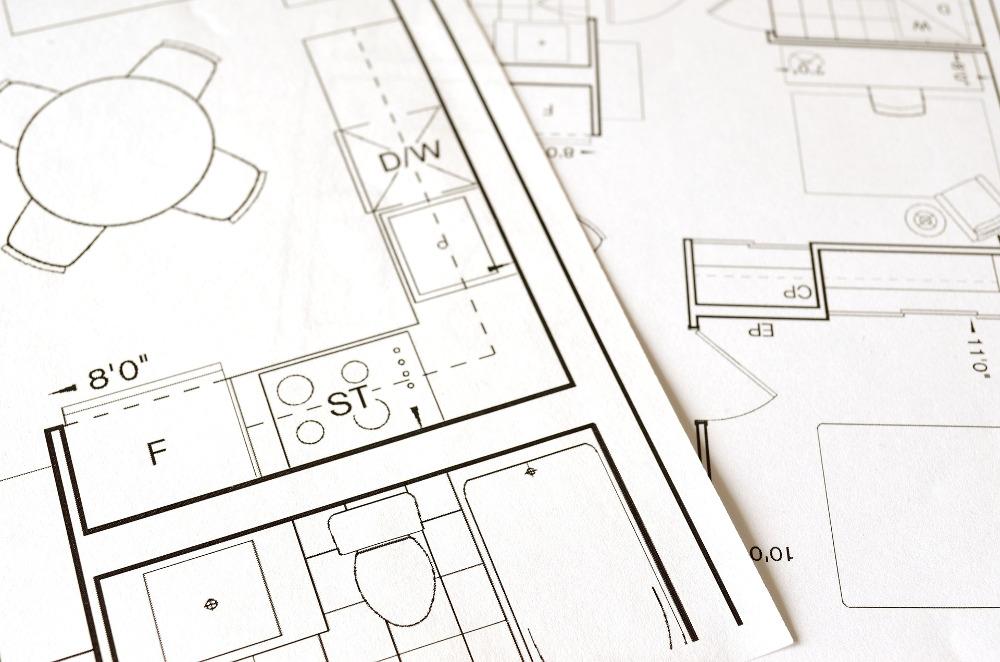símbolos plano de una casa