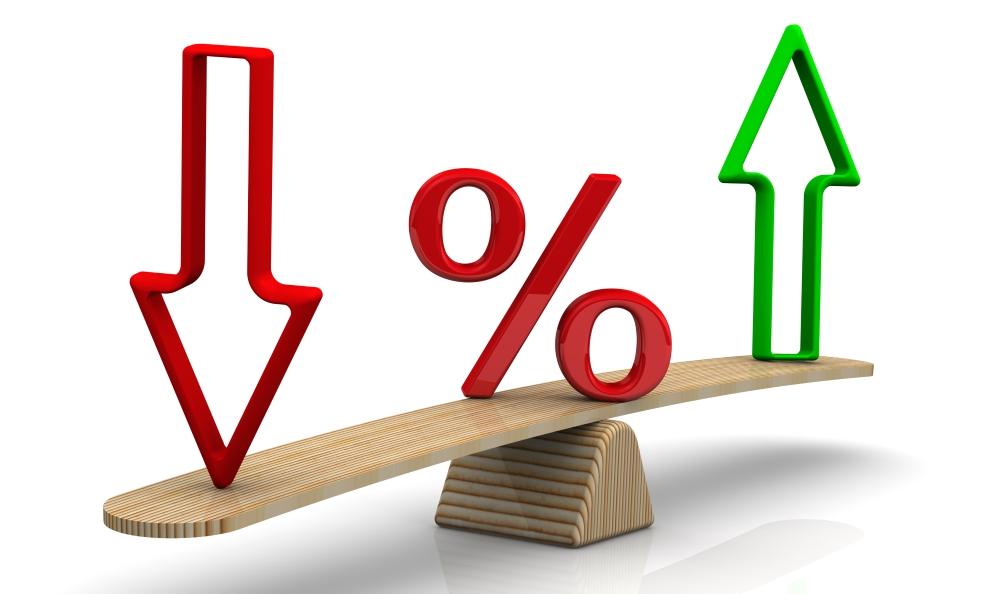 Balanza con porcentajes