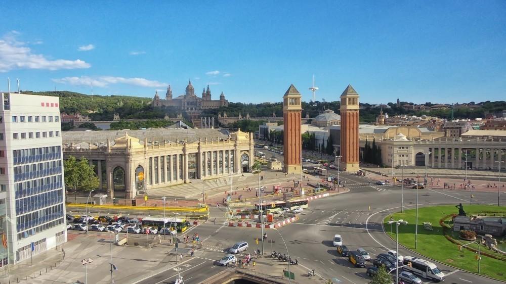 vista plaza españa barcelona