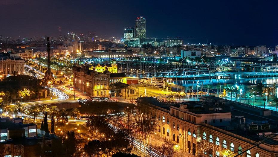 promociones pisos obra nueva distritos barcelona vista nocturna ciudad