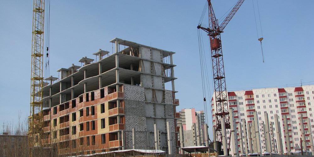 edificios de obra nueva en construcción
