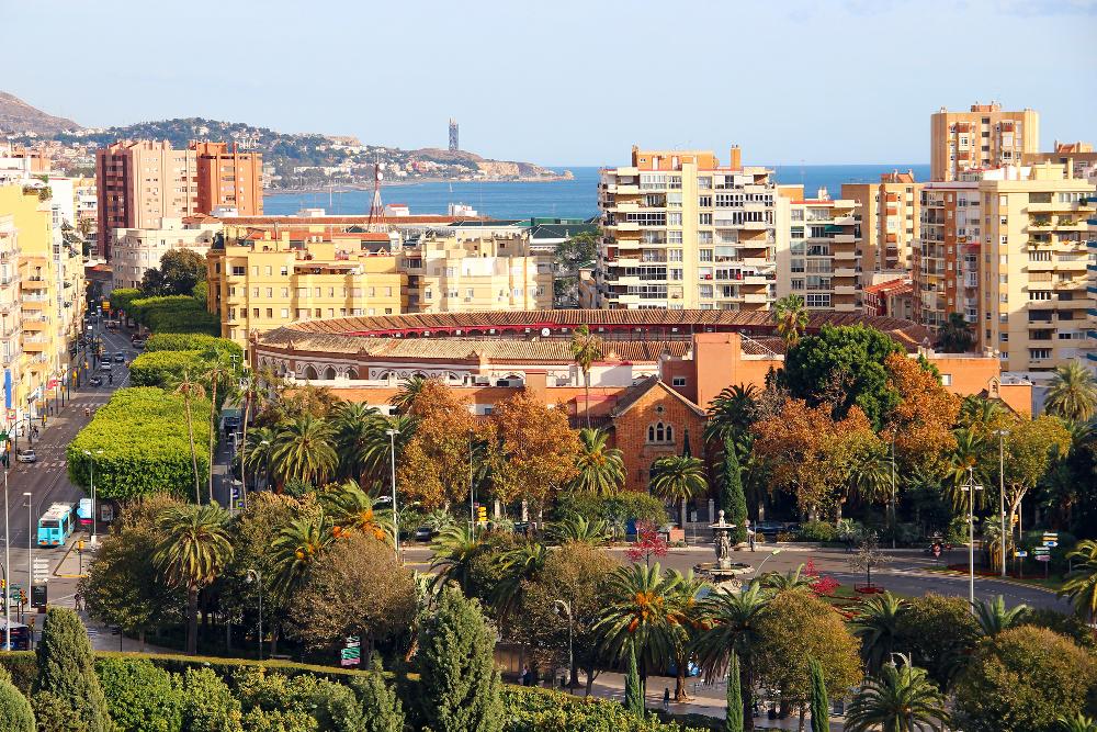 centro de la ciudad de Málaga