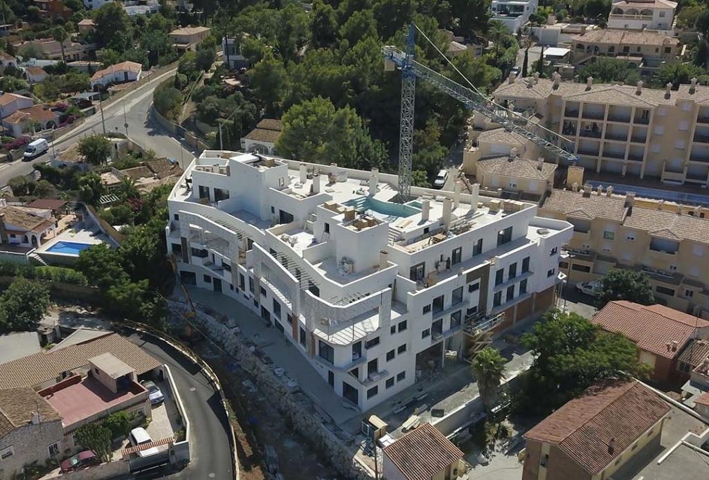 Promoción de obra nueva en Denia en construcción