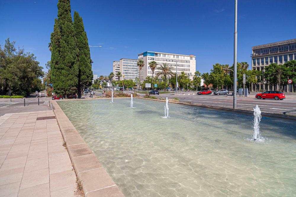 fuente del distrito de Les Corts de Barcelona