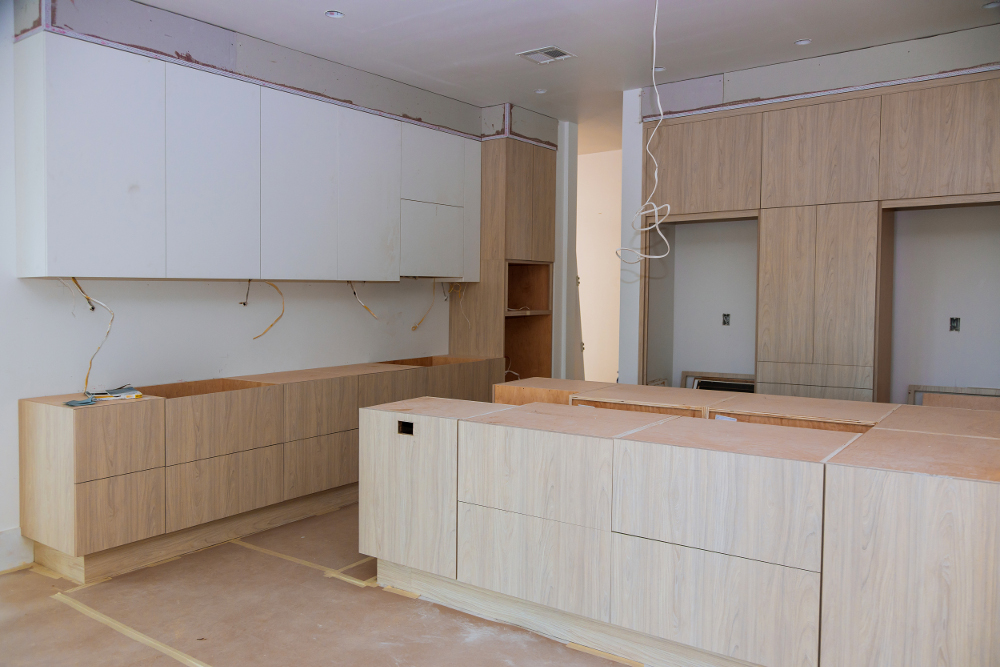 personalización casa cocina en construcción