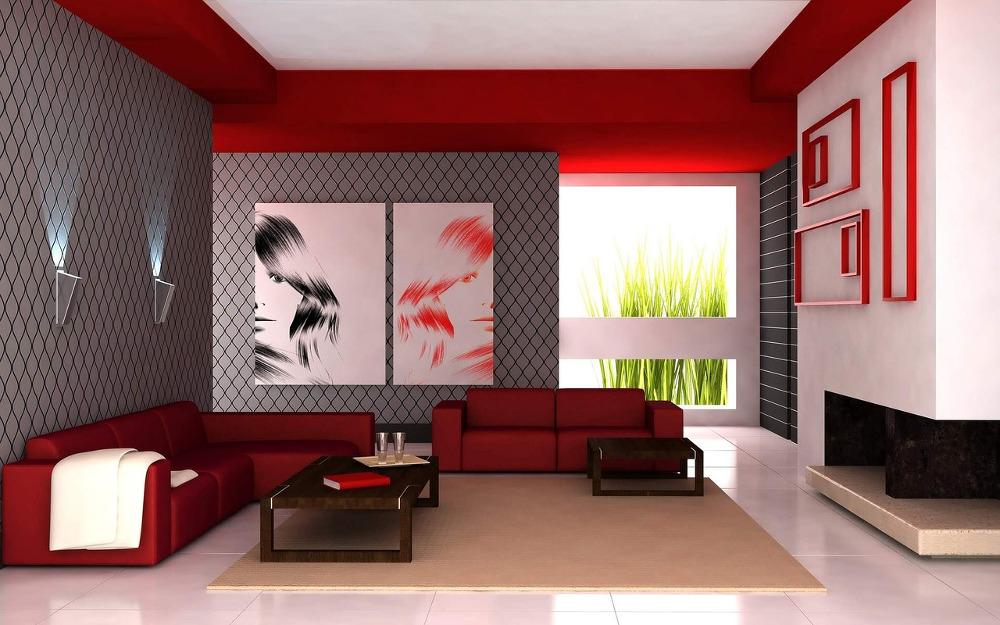 salón de diseño moderno de una casa nueva