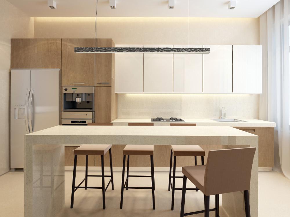 cocina de un piso de obra nueva