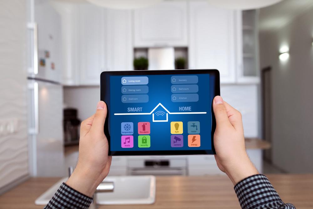 domótica en vivienda tablet