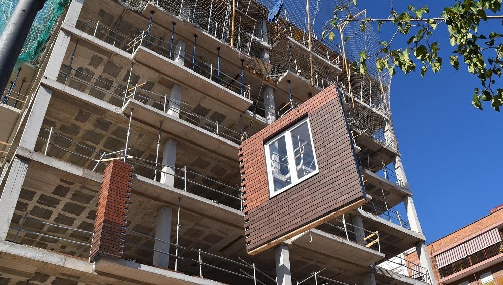 fachada construcción industrializada